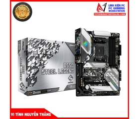 Mainboard ASROCK B550 STEEL LEGEND (AMD B550, Socket AM4, ATX, 4 khe RAM DDR4)