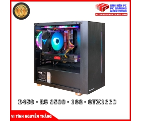 CẤU HÌNH GAMING AMD VIP NEW ( B450 - R5 3500 -16GB-GTX1660)