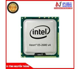 CPU Intel Xeon E5 2680v4 (2.4GHz Turbo Up To 3.3GHz, 14 Nhân 28 Luồng, 35MB Cache, LGA 2011-3)