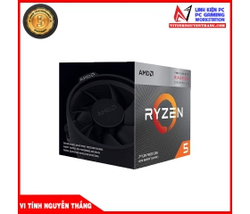 CPU AMD Ryzen 5 3400G (3.7GHz turbo up to 4.2GHz, 4 nhân 8 luồng, 4MB Cache, Radeon Vega 11, 65W) -