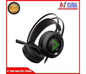 Tai nghe Gaming Zidli ZH6 7.1 Led USB Black